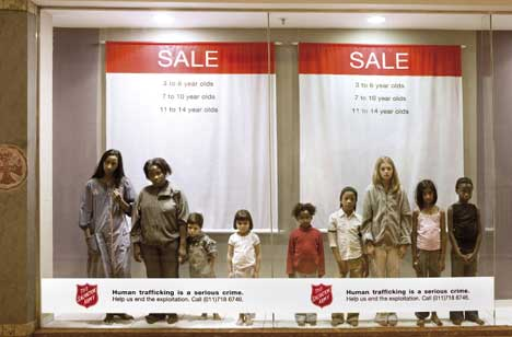 Salvation Army Leo Burnet campaign to end traffickingHuman Trafficking Children Stories